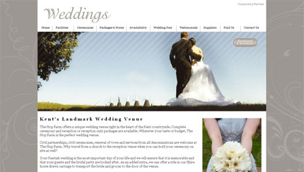 Wedding Venue Homepage