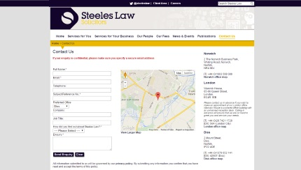 Steeles Law Contact Page